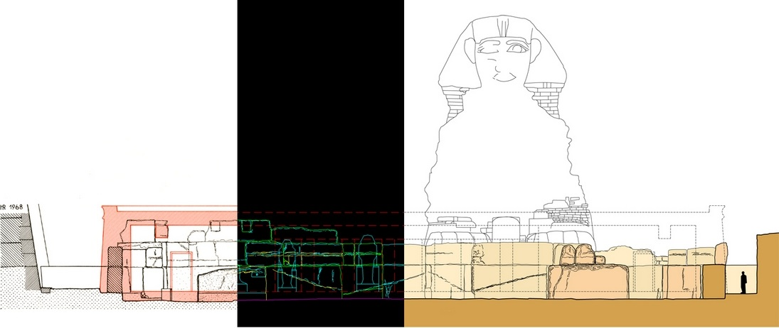 Composition of elevation drawings and the Sphinx